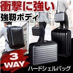 ビジネスバッグ リュック メンズ ハードシェル 3WAY 通勤(即納)|sanwadirect