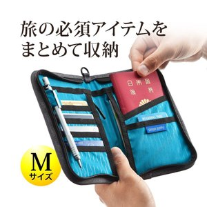 パスポートケース  首下げ 旅行 便利グッズ(即納)|sanwadirect