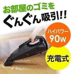 ハンディクリーナー 掃除機 車載用品 コードレス クリーナー 充電式 サイクロン掃除機 ハンド(即納)|sanwadirect