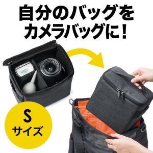 カメラバッグ 一眼レフ インナー ボックス バッグインバッグ 収納 Sサイズ(即納)|sanwadirect