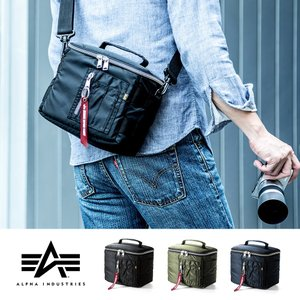 カメラバッグ 一眼レフ カメラ ミラーレス一眼 ショルダー カメラケース インナーバッグ ボックス ALPHA MA-1生地(即納)