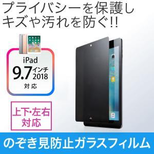 iPad フィルム iPad Air2 プライバシー 覗き見防止 ガラスフィルム(即納)|sanwadirect