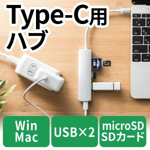 MacBook USB PD Type-Cハブ 充電機能付 USBハブ microSD SDカードリーダー USB3.1(即納)|sanwadirect