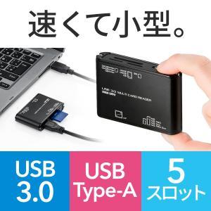 マルチカードリーダー USB3.0 SD microSD コンパクトフラッシュ メモリースティック M2(即納)|sanwadirect