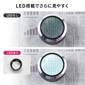 ルーペ 拡大鏡 デスクルーペ LEDライト 5倍 虫眼鏡(即納)|sanwadirect|06