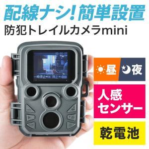 防犯カメラ 屋外 家庭用 配線不要 電池式 監視カメラ ワイヤレス 暗視 防水 小型 モニター付き トレイルカメラ|sanwadirect