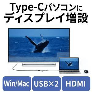 USBハブ Type-C USB3.0 USB3.0ハブ HDMI MacBook|sanwadirect
