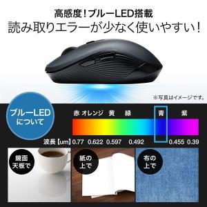 マウス ワイヤレスマウス 無線 5ボタン ブル...の詳細画像4