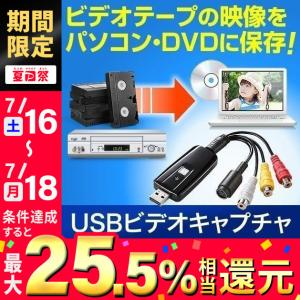 USBビデオキャプチャー VHSテープや8mmビデオテープをダビングしてデジタル化 DVDに保存