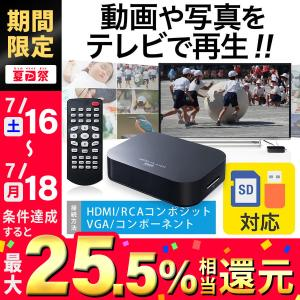 メディアプレーヤー テレビ再生 SDカード USBメモリ 動画 写真 音楽(即納)