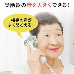 電話機用 補聴 音量増幅 拡声器 スピーカー ゴムバンド取付 電話 声を大きくする(即納)|sanwadirect