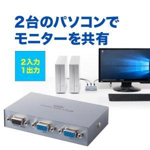 ディスプレイ切替器 VGA切替器 ミニD-sub15ピン 2台用(即納)|sanwadirect
