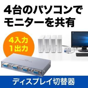ディスプレイ切替器 VGA切替器 ミニD-sub15ピン 4台用(即納)|sanwadirect