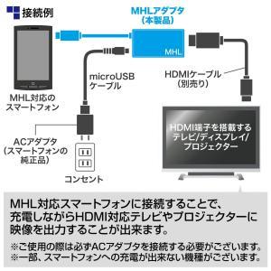 MHL HDMI 変換アダプタ ケーブル スマホの画面をテレビに映せる(即納)|sanwadirect|03
