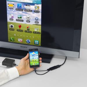 MHL HDMI 変換アダプタ ケーブル スマホの画面をテレビに映せる(即納)|sanwadirect|05