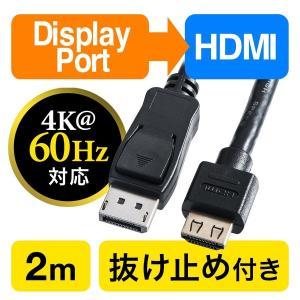 HDMI 変換 ケーブル ディスプレイポート 変換 DisplayPort ケーブル 2m