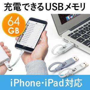iPhone  iPad USBメモリ 64GB 充電(即納)|sanwadirect