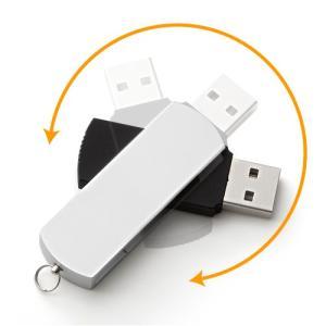USBメモリ 4GB USB メモリー スイングタイプ(4G) シルバー(即納)|sanwadirect|02