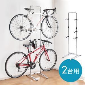 自転車スタンド 2台置き 倒れない 自立式 室内 おしゃれ 2台用 ディスプレイスタンドの画像