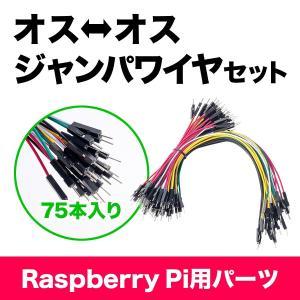 Raspberry Pi用ジャンパー線 オスオス 75本入 20cm/25本 10cm/50本 5色...