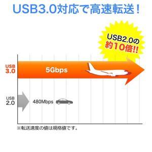 HDDケース 2.5インチ USB3.0対応 SATA接続 バスパワー SSD対応 工具不要(即納)|sanwadirect|03