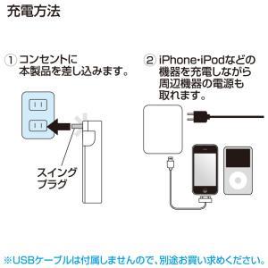 iPad充電ACアダプタ USBポート2個 スマホ 充電 コンセント ホワイト(ACA-IP25W)|sanwadirect|07