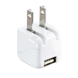 USB充電器 1ポート 1A 小型 ホワイト(ACA-IP32WN)(即納)|sanwadirect
