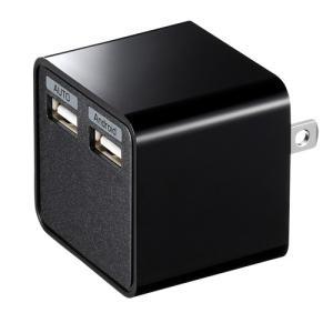 USB充電器 2ポート 合計3.4A ブラック(ACA-IP39BK)(即納)|sanwadirect