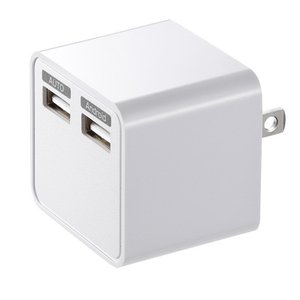 USB充電器 2ポート 合計3.4A ホワイト(ACA-IP39W)(即納)|sanwadirect