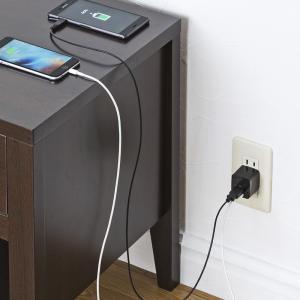 USB充電器 2ポート 2.4A 小型 ブラック(ACA-IP44BK)(即納)|sanwadirect|03