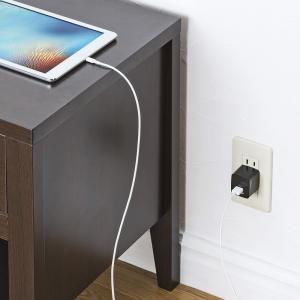 USB充電器 2ポート 2.4A 小型 ブラック(ACA-IP44BK)(即納)|sanwadirect|04