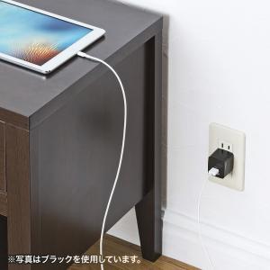 USB充電器 2ポート 2.4A 小型 ホワイト(ACA-IP44W)(即納)|sanwadirect|04