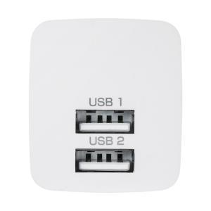 USB充電器 2ポート 2.4A 小型 ホワイト(ACA-IP44W)(即納)|sanwadirect|05
