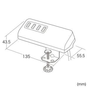USB充電器 クランプ式 机固定 USB4ポート ホワイト(ACA-IP50W)(即納)|sanwadirect|05