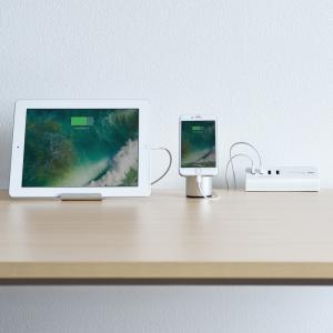 USB充電器 クランプ式 机固定 USB4ポート ホワイト(ACA-IP50W)(即納)|sanwadirect|07