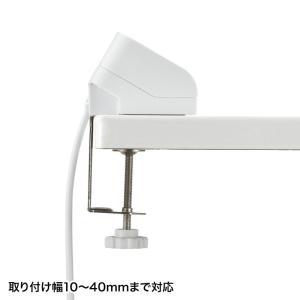 USB充電器 クランプ式 机固定 USB4ポート ホワイト(ACA-IP50W)(即納)|sanwadirect|08