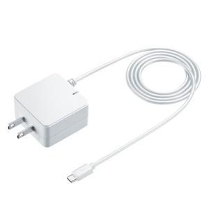 Quick Charge 2.0対応AC充電器 microUSBケーブル一体型 ホワイト 1.5m(ACA-QC42MW)(即納)|sanwadirect