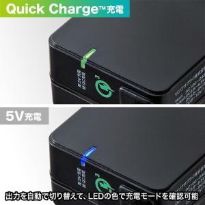 Quick Charge 3.0対応AC充電器 USB Type Cケーブル一体型 ブラック 1.2m(ACA-QC46CBK)(即納) sanwadirect 04