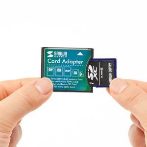 SDXCカード用CF変換アダプタ(ADR-SDCF2)(即納)|sanwadirect