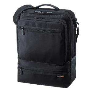 3WAYビジネスバッグ 15.6型ワイド シングル タテ型 ブラック(BAG-3WAY23BK)(即納)|sanwadirect