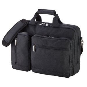 3WAYバッグ ビジカジ 15.6インチワイド ブラック|sanwadirect