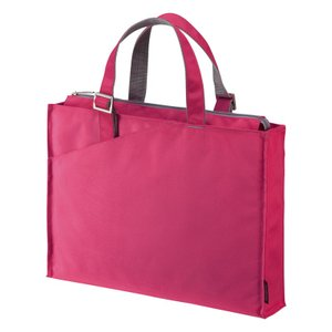 ビジネスバッグ パソコンバッグ PCバッグ 16.4インチ ワイド ピンク レディース カバン 収納 鞄 取っ手(即納)|sanwadirect