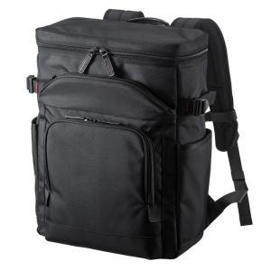 ビジネスリュック 軽量 13.3インチワイド メンズ ブラック(BAG-EXE10)(即納)|sanwadirect