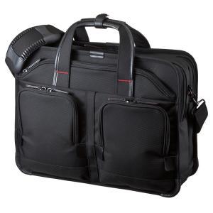 ビジネスバッグ 15.6型ワイド ダブルルーム ブラック PRO(BAG-EXE8)(即納)|sanwadirect