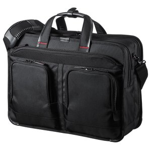 ビジネスバッグ 大容量 15.6インチワイド メンズ ブラック(BAG-EXE9)(即納)|sanwadirect