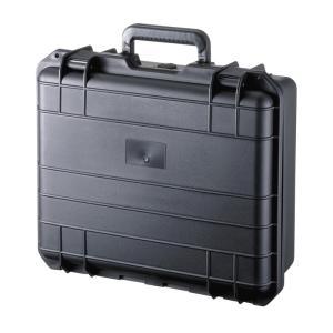 ハードケース バッグ PP樹脂製 密閉ダイヤル 鍵付き 15.6型ワイド対応(BAG-HD1)(即納)|sanwadirect