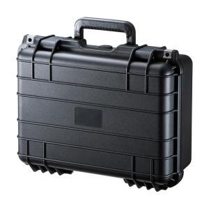 ハードツールケース PP樹脂製 密閉ダイヤル 鍵付き 精密機器/小型ドローン対応(BAG-HD4)(即納)|sanwadirect