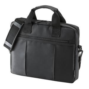 ノートPCバッグ 12.1型ワイド ビジネスバッグ メンズ カバン 収納 鞄 取っ手 ショルダー(即納)|sanwadirect