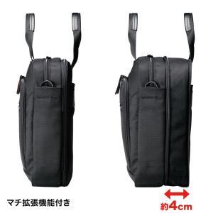 マチ拡張PCバッグ 14.1型ワイド対応 ブラック(BAG-W1BKN)(即納)|sanwadirect|03