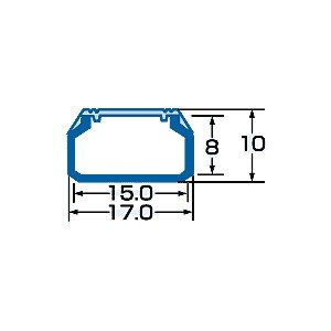 ケーブルモール 配線カバー 角型 小 幅:17mm 2本収納可能(1m) ホワイト(CA-KK17)(即納)|sanwadirect|02